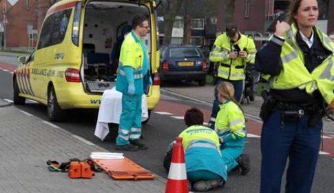 Vrouw gewond bij ongeval op de Roerdomplaan