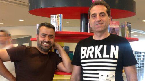 Syrische vrijwilligers bibliotheek organiseren ontmoetingsavond