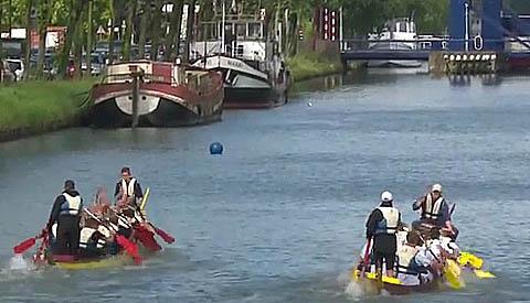 Brandweer Nieuwegein wint Drakenbootrace 2016