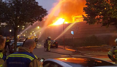 Video: Eerste beelden grote brand op Cityplaza