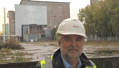 Wethouder Snoeren bezoekt Merwedekanaal centrale van Eneco in Utrecht