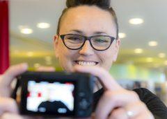 'Wie vlogt daar in Nieuwegein' Deze week onze nieuwe collega Dagmar van Amerongen