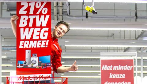 BTW Weg Ermee-actie van start bij Media Markt Nieuwegein