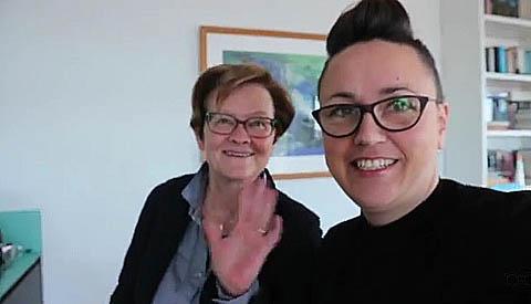 Vlogster Dagmar van Amerongen op bezoek bij het 4/5 mei comite Nieuwegein