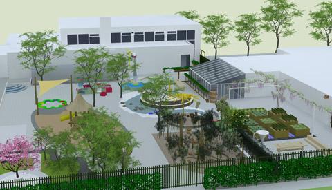 Stimuleer spelen op groene schoolpleinen