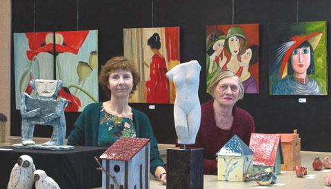 Expositie van vier kunstenaars in  KunstGein Podium