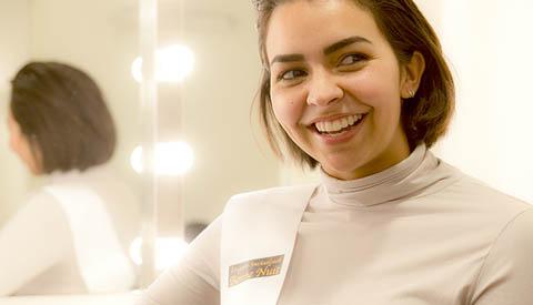 'Wie doet daar mee aan de 'Miss Beauty of Utrecht' verkiezingen uit Nieuwegein'