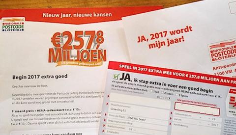 Column Willeke Stadtman: 'Postcodeloterij'