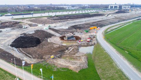 Fiets een rondje bouwproject bij de Prinses Beatrixsluis op leenfietsen van Sas van Vreeswijk