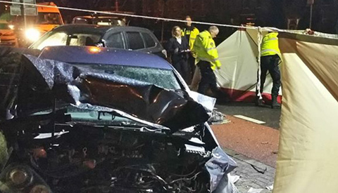 Politie reconstrueert dodelijk ongeval aan de Utrechtsestraatweg
