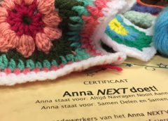 Anna NEXT VMBO haakt voor WensAmbulanceUtrecht, groot succes!