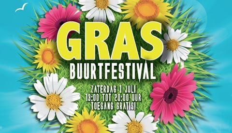 Gras Buurtfestival in Batau
