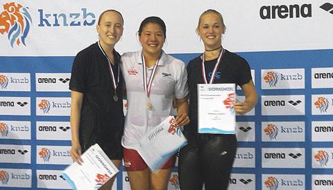 Veel medailles voor ZV Aquarijn op NK schoonspringen in Eindhoven