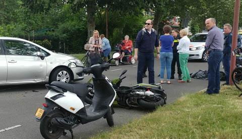 Raadsleden getuigen van ongeluk op de Jutphasestraatweg