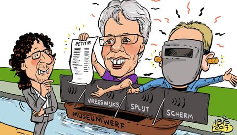 PENTekening: 'Vreeswijks Splijt Scherm'