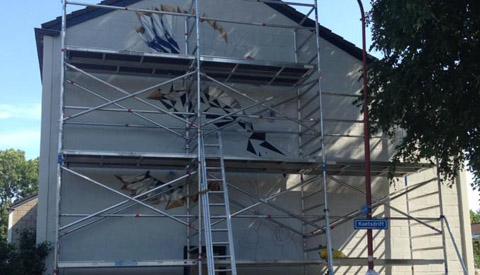 Muurschildering in Rijtuigenbuurt van start