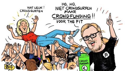 PENTekening: 'Crowdfundactie van The Pit voor een nieuw podium'