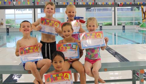 A- en B-zwemdiploma behaald in Merwestein