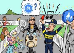 PENTekening: 'Het zottige fietspad van wethouder Hans Adriani'