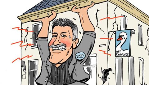 PENTekening: 'De Mol van de VSP wil een onderzoek bij de verbouwing van Café de Zwaan'