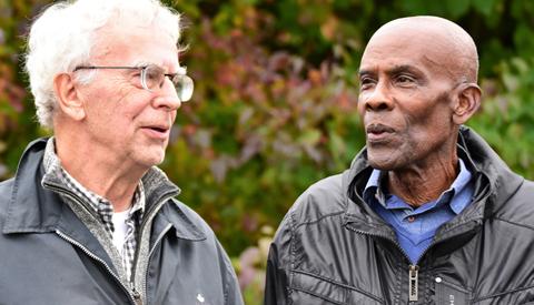 Speciale ontmoeting tussen onze verslaggever Hans van Echtelt en Michel Kruin op Sportpark Parkhout