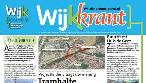 Wijkkrant Zuilenstein, Huis de Geer en Blokhoeve on-line