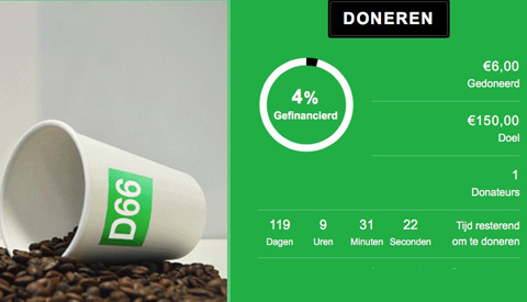 D66 Nieuwegein start crowdfundactie voor de komende gemeenteraadsverkiezingen