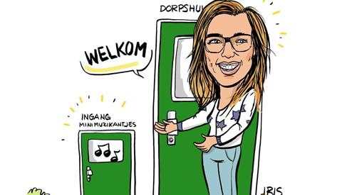 PENTekening: 'De Minimuzikantjes in Dorpshuis Vreeswijk