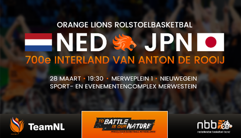 Bijzondere interlandwedstrijd Nederlands Rolstoel Basketball team in Merwestein