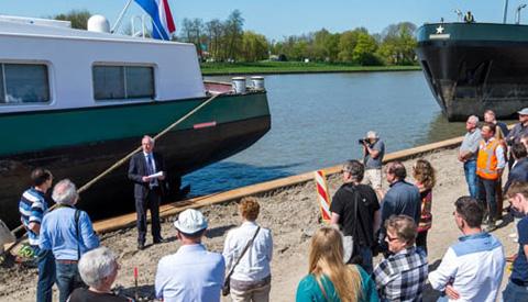 Ligplaatsen en deel van verbreed Lekkanaal bij Prinses Beatrixsluis op 18 april feestelijk geopend