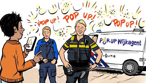 PENTekening: 'de Pop-Up Wijkagent'