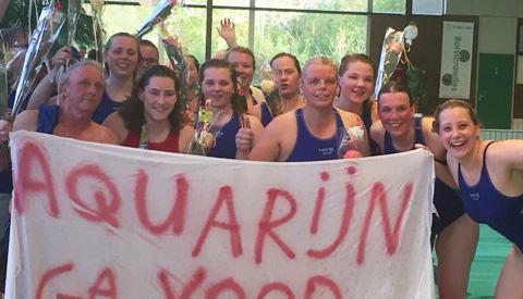 Waterpolovrouwen Zwemvereniging Aquarijn Kampioen