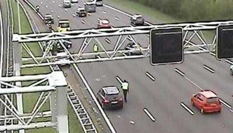 File door ongeluk op de A2 bij Nieuwegein
