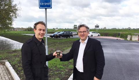 Nieuw carpoolterrein De Linielanding aan A27 in Nieuwegein