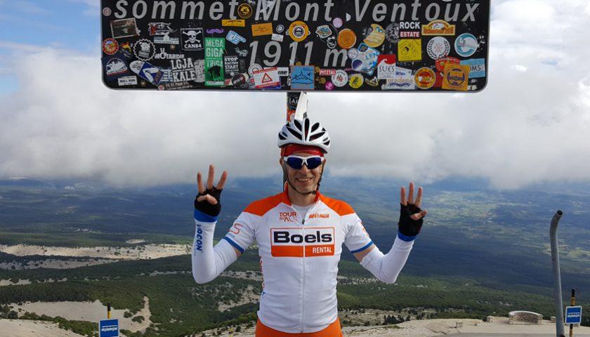 Nieuwegeiner fietst drie keer de Mont Ventoux op
