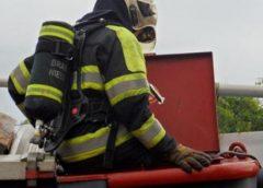 Containerbrand bij Karwei op Laagraven