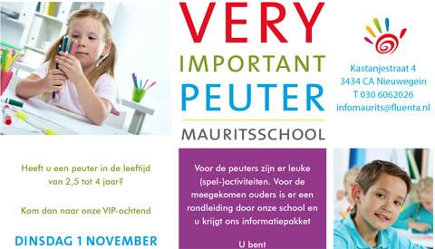 Very Important Peuter-ochtend Mauritsschool