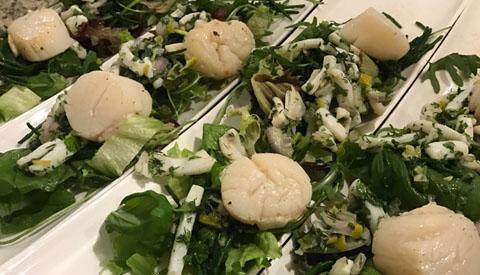 Koken met PEN: 'Een heerlijke salade met inktvis en coquilles'