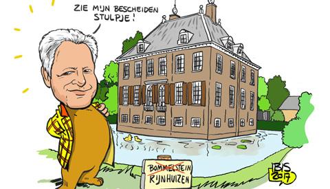 PENTekening: 'Mogen wij u voorstellen, de nieuwe kasteelheer van Rijnhuizen'