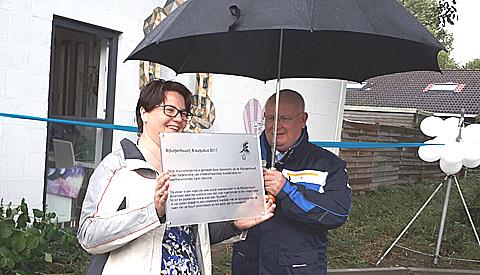 Burgemeester opent kunstwerk aan de Koetsdrift