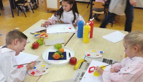 Peuterpret tijdens open dagen Margrietschool