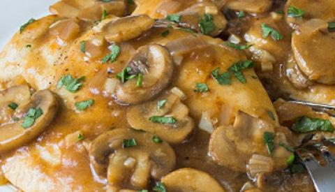 Koken met PEN: 'Kip marsala'