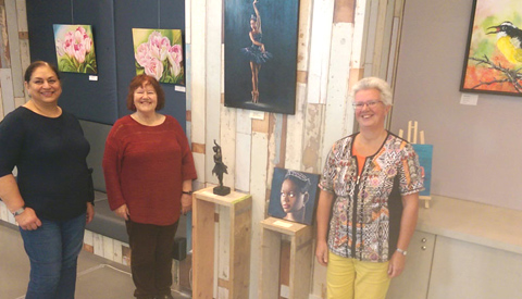 Nieuwe expositie KunstGein Podium in het Atrium van het Stadshuis