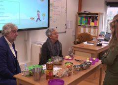 Groep 8 van Basisschool De Toonladder aan de slag met gezonde voeding