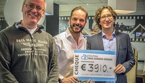 Bijna 9.000,- euro voor 'Stichting Dag Zonder Zorgen'