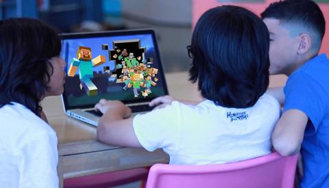 Minecraft-toernooi 'Looking forward… 2018' bij de bieb