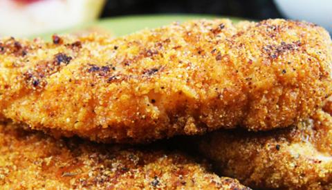Koken met PEN: 'Gepaneerde kip schnitzels'