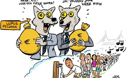 PENTekening: 'Verhitte festivalbezoekers ontstemd: Zes euro voor een flesje water!'