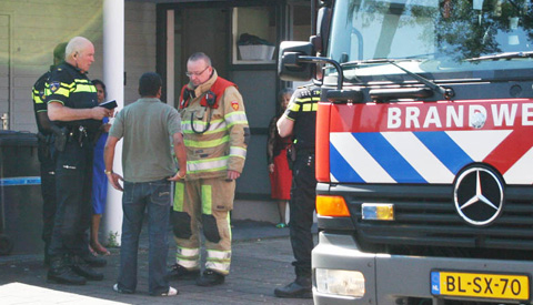 Brand in slaapkamer in woning aan de Carel Vosmaerhove
