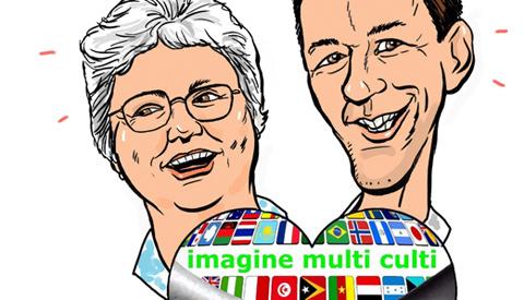 PENTekening: 'Ellen en Jap die het Imagine Multi Culti Festival organiseren'